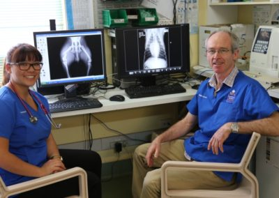 Digital radiographs and in-house pathology testing